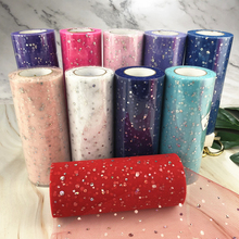 Glitter Sequin Tulle Roll 15cm 22m  Fabric Spool Tutu Gift Wrap Baby Shower Wedding Decoration DIY Birthday Party Supplies