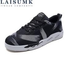 купить LAISUMK Mens Casual Shoes Men Canvas Shoes For Men Male Workoutdoor Walking Breathable Zapatos Hombre Fashion Men Shoes Footwear дешево