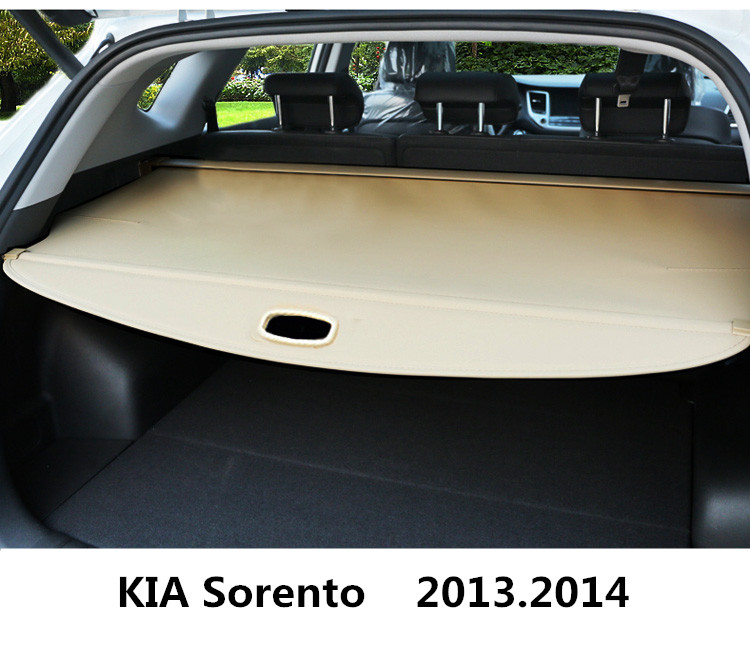 For KIA Sorento 2013.2014 Car Rear Trunk Security Shield Cargo Cover High Qualit Black Beige Auto Accessories car rear trunk security shield cargo cover for dodge journey 5 seat 7 seat 2013 2014 2015 2016 2017 high qualit auto accessories