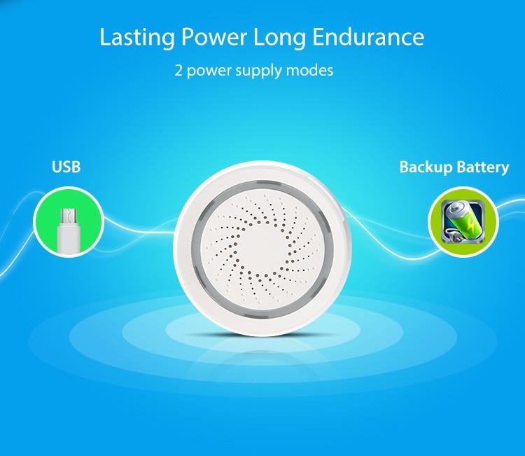 TUYA Smart Home Video Alarm Kit Concluding 720P Cameras 3 sensors 1 Siren Alarm All Support Wifi with SmartLife TUYA Smart APP_F15