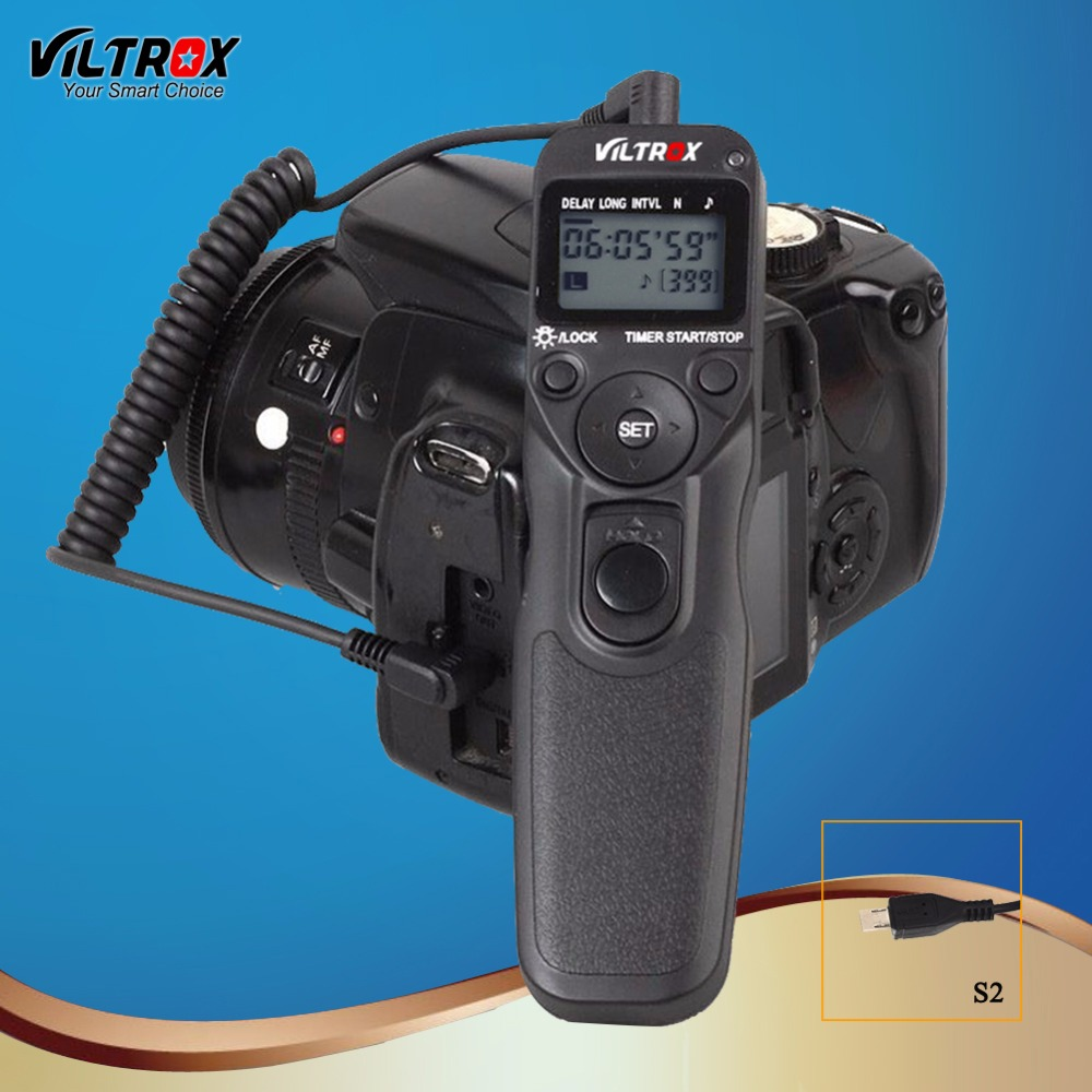 Viltrox MC-S2 LCD Timer Camera Shutter Release Remote Control Wire for Sony Sony A9 A7Riii RX10M4 A6500 A6300 A6000 A7SII DSLR