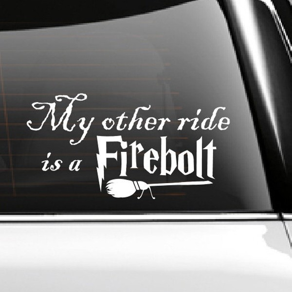 Car sticker vinyl decal my other ride is a inspired vinyl decals waterproof