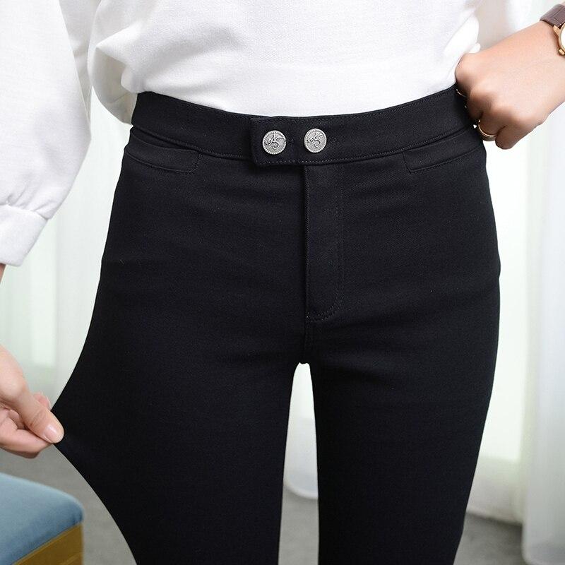 Yesello Dünne Frauen Leggings Hohe Stretch Weibliche Bleistift Hosen Plus  Größe 5XL 6XL Schwarz Femme Pantalon 8ffa98e7f7