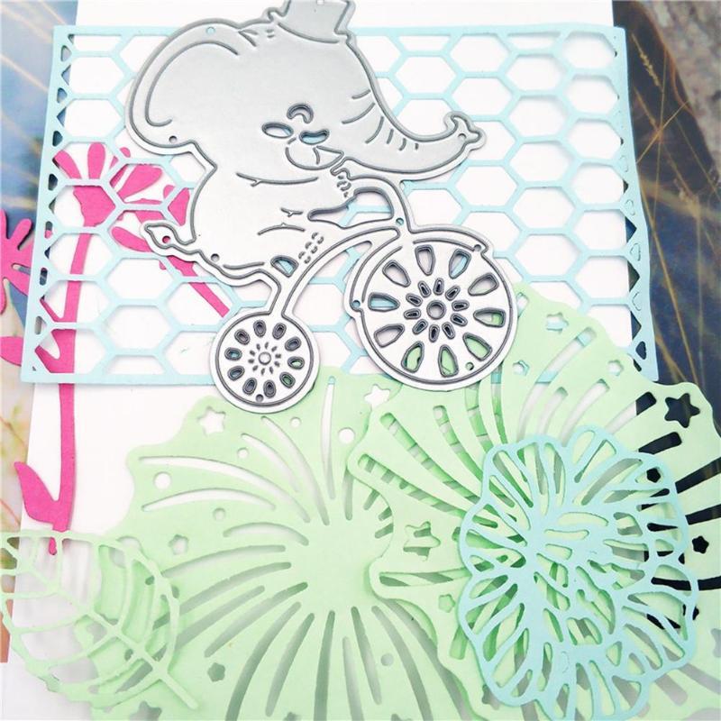 Metal Cutting Dies Stencils for DIY Scrapbooking Photo Album Elephant Bike