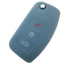 High quality Silicon silicone Car key case cover for Ford 2012 13 14 Focus 2 3 Fiesta Hatch Ranger Escape Fusion Kuga Transit