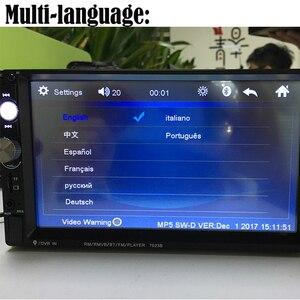 """Image 5 - Podofo 2 din Auto Radio 7 """"Schermo di Tocco di HD Mirrorlink Auto Radio Lettore Bluetooth Car Stereo Multimedia MP5 Videocamera Vista Posteriore"""