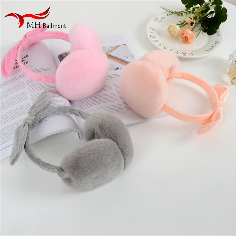 Female Winter Fur Earmuffs Ear Warm Ladies New Cute Super Large Rabbit Fur Earmuffs Warm Earmuffs Out Warm Warm Earmuffs J#2