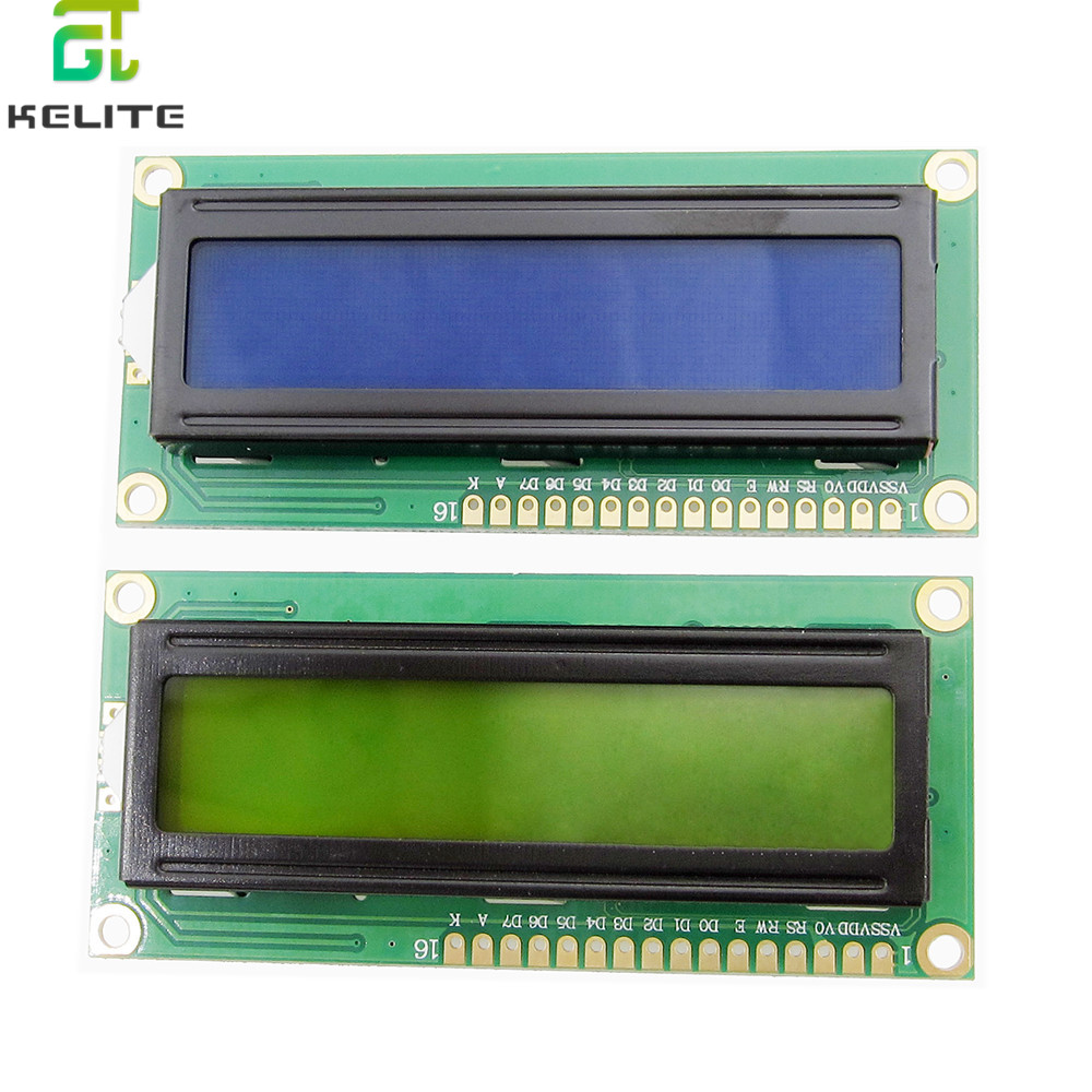 1PCS LCD1602 1602 module green screen <font><b>16x2</b></font> Character <font><b>LCD</b></font> <font><b>Display</b></font> Module.1602 5V Blue/Gree screen and white code for image
