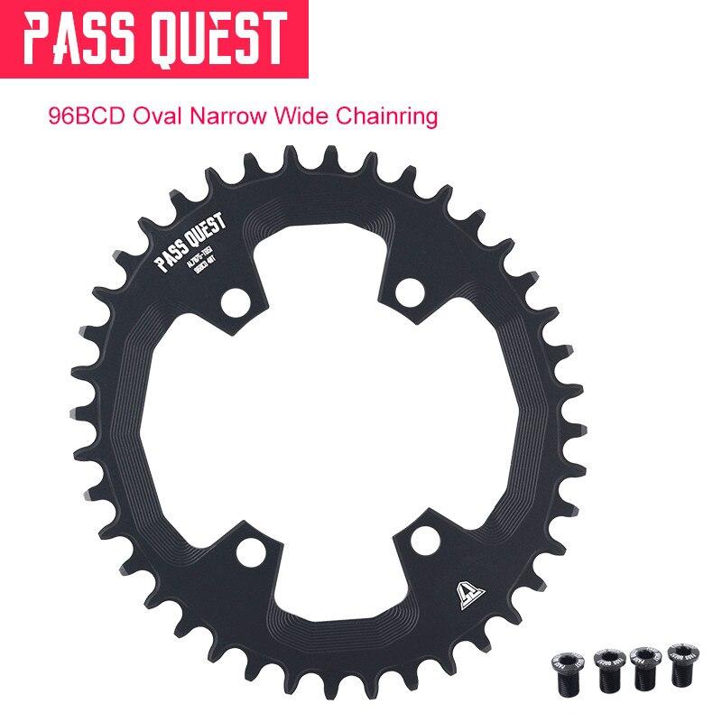 PASS QUEST plateau ovale 96BCD vtt étroit large roue de bicyclette 32/34/36/38/40/42 T pour pédalier deore xt M7000 M8000 M9000