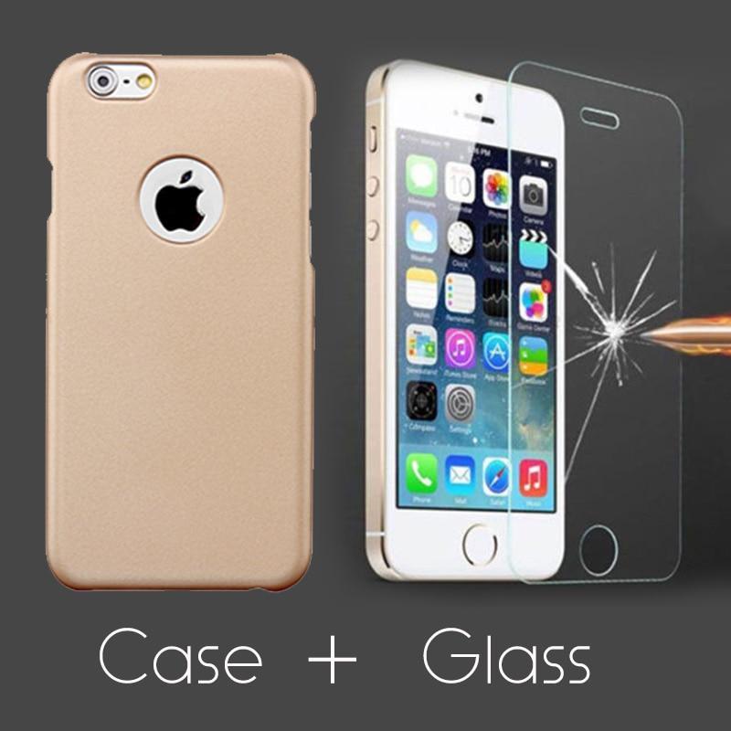 Ultra Thin Matte Hard Case + Tempered Glass Screen Protector Film - Ανταλλακτικά και αξεσουάρ κινητών τηλεφώνων - Φωτογραφία 2