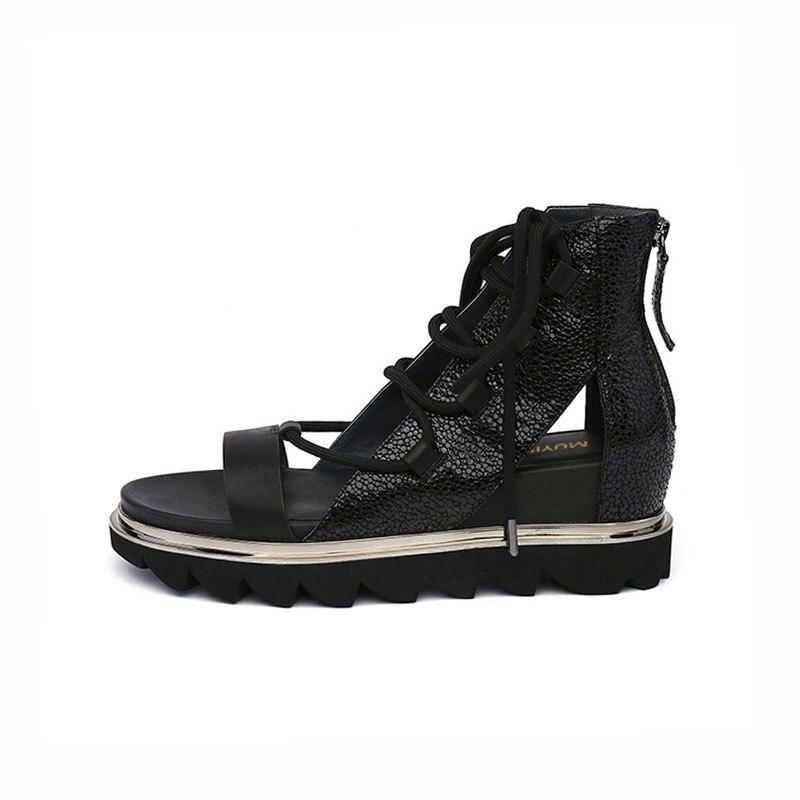 Candy สีรองเท้าแตะความสูงเพิ่ม Gladiator แพลตฟอร์ม Wedge รองเท้าผู้หญิงวาเลนไทน์รองเท้า Creepers HL98 MUYISEXI-ใน รองเท้าส้นสูง จาก รองเท้า บน   3