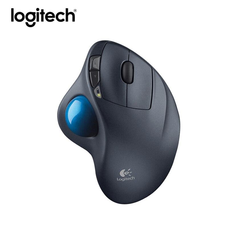 D'origine logitech 2.4 ghz sans fil souris m570 trackballs ergonomique verticale souris de jeu professionnel dessin récepteur unifying