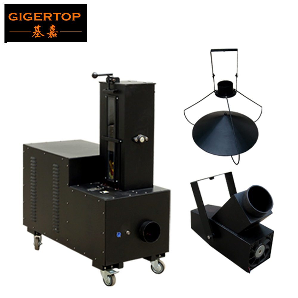 Gigertop TP-T190 Confetti Tornado Long Distance Manual Jet Machine 2000W High Power Flight Case Packing with Wheels 110V/220V