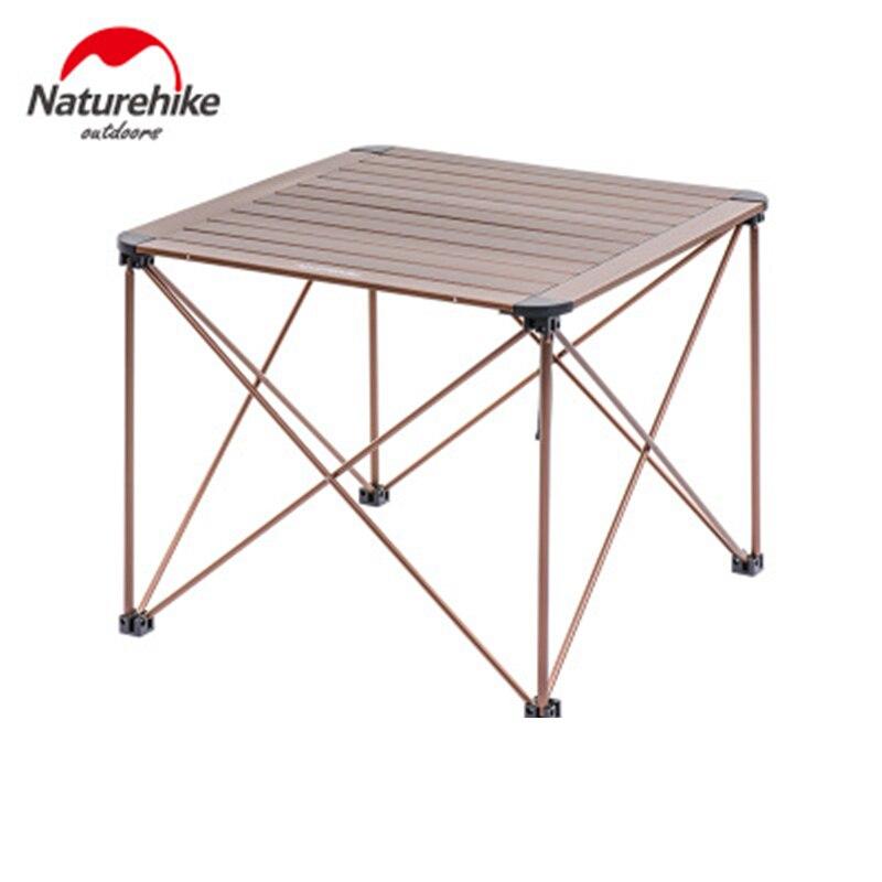 Naturehike открытый складной столик для кемпинга открытый рыбалка кемпинг столы портативный легкий алюминиевый стол Кемпинг Пикник парк - 2