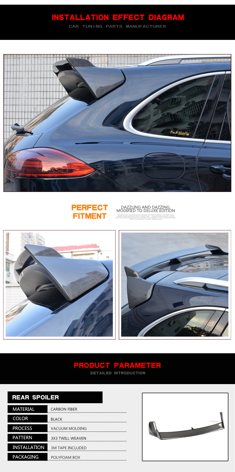 Carbon Fiber Rear Roof Wing Trunk Trim Sticker Custom Spoiler Case Nissan Teana Wiring Diagram Getsubject Aeproduct