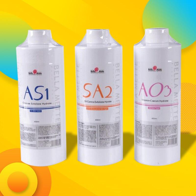 AS1 SA2 AO3 Aqua Peeling Solution/400ml Per Bottle Aqua Facial Serum Hydra Dermabrasion Facial Serum For Normal Skin