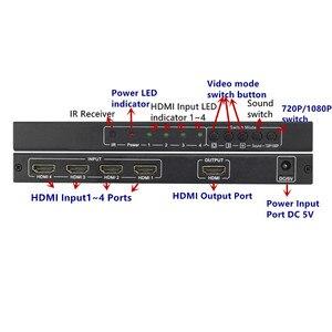 Image 4 - 4 יציאות HDMI מתג חלקה Switcher 4x1 רב הצופה מתאם, מלא HD1080P, עבור XBOX 360 PS4/3 חכם אנדרואיד HDTV משלוח חינם