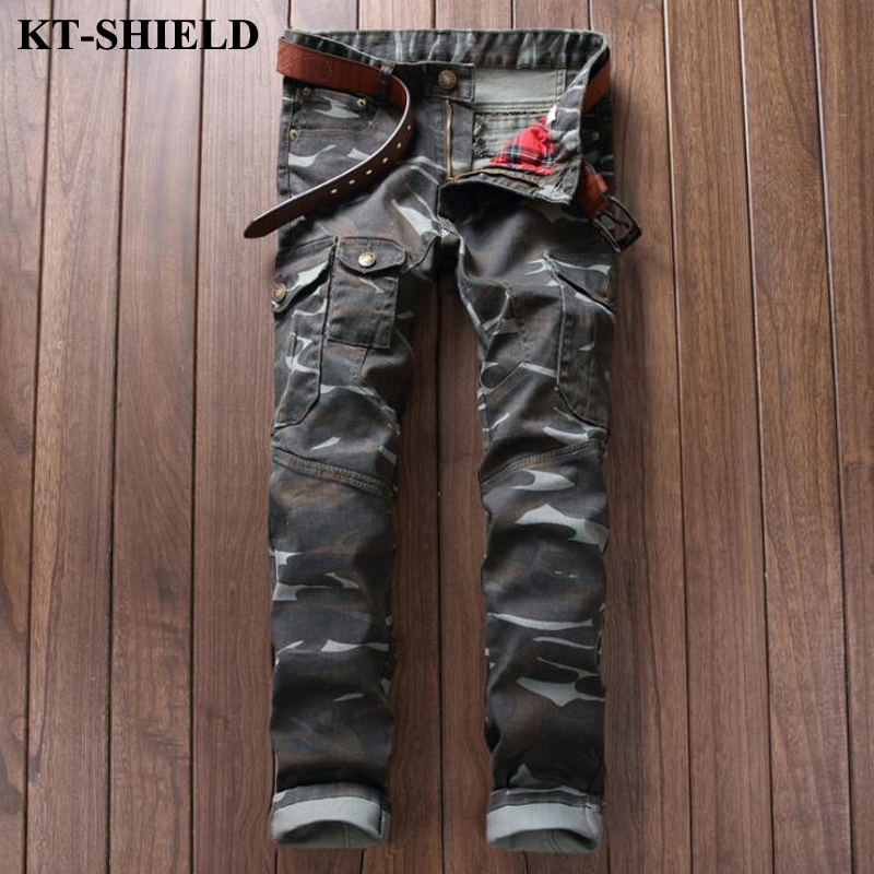 New Camouflage Jeans Men 100 Cotton Military Tactical Denim Pants Masculina Casual Male Harem Pants Fashion