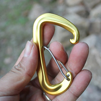 2 Pack Carabiner hooks Hammock Locking D Clips with Heavy Duty for Camping Hiking Traveling|Hammocks| |  -