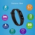 Agradável moda aptidão pulseira de relógio inteligente para iphone 6/5s android samsung galaxy s6 s5 s4 inteligente pulseira pedômetro 0.91''