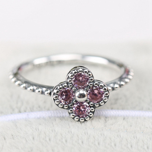 6340f88ef 2016 Summer Jewelry Collection Oriental Blossom Ring With Pink CZ Bague  Femme Rings For Women 925 Sterling Silver Ring Women