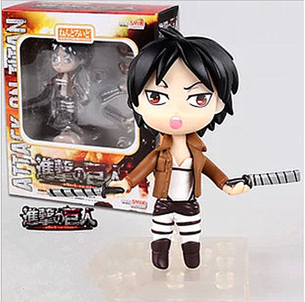 Anime Nendoroid Q-version Attack on Titan Eren Jaeger PVC Action Figure Model Doll Toy Gift Drinquedos Anime Figure Juguetes