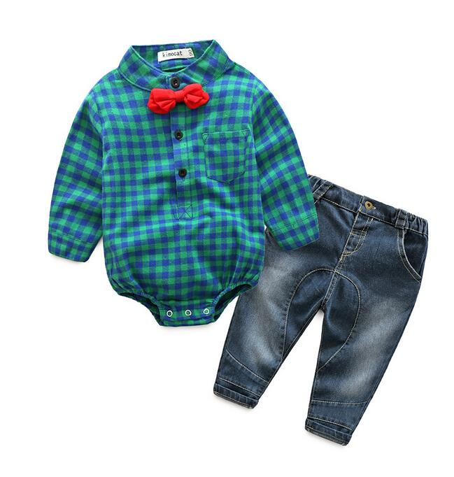 2017 spring fashion toddler baby boy clothes clothing set autumn baby cotton outfits boys suits rompers long sleeve + jeans baby rompers 2016 spring autumn style overalls star printing cotton newborn baby boys girls clothes long sleeve hooded outfits
