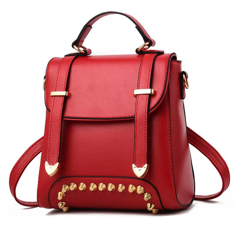 Fashion Backpack Womens Backpack School Student Back Pack Female Backpacks Rucksack Mochila Escolar rivet Backpack Girls