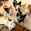 10pcs/lot Meow Doll Keychain Cat Kitten Keyring Bell Toy Key Chain Rings For Handbag Cute Gift Kitty Key Ring Cat keychains