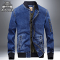 Denim jacket men 2016 new fashion Autumn men jeans jacket brand AFS JEEP overcoat jaqueta masculina casaco masculino embroidered