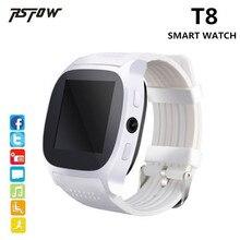 RsFow T8 Relógio Inteligente Com Câmera Music Player Facebook Whatsapp Sync SMS Suporte SIM Card TF Bluetooth Smartwatch Para Android