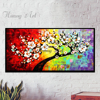 Skilled Artist Hand Painted High Quality Heavy Textured Flower Tree Oil Painting On Canvas 3D Thick