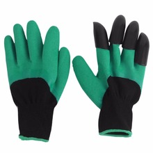 Universal Breathable Solid Color Garden Household Gloves Waterproof Non Slip Beach Protective Gloves for Digging Hot
