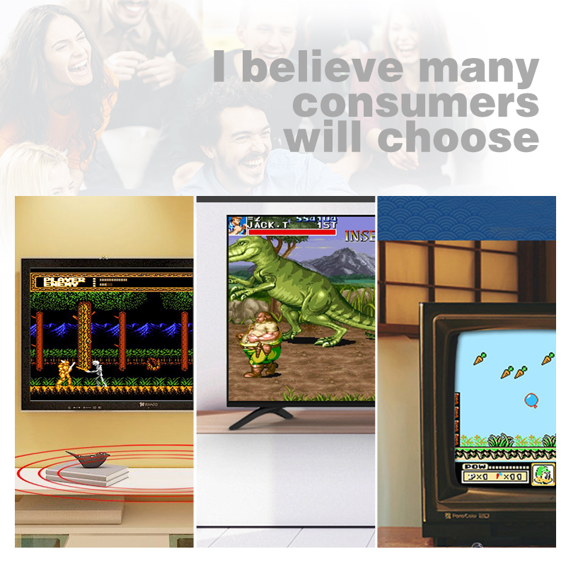 Image 5 - DATA FROG TV Video Game Console Built In 620 Games 8 Bit Retro Game Console Handheld Gaming Player Best Gift free shipping-in Handheld Game Players from Consumer Electronics