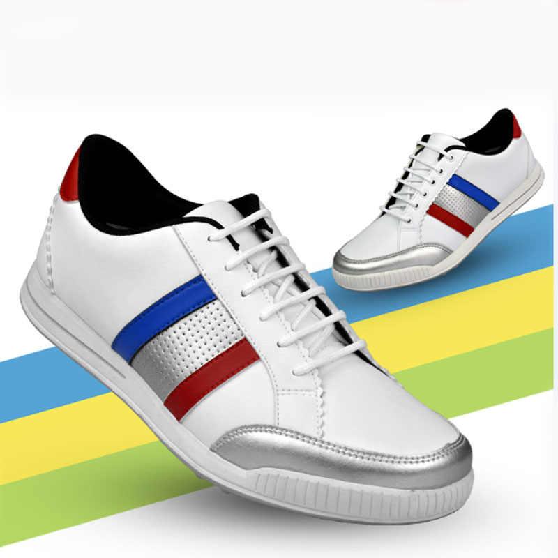 TTYGJ גולף נעלי זכר כסף נייל נעליים עמיד למים רוח חדש גולף נעלי ספורט נעליים יומיומיות