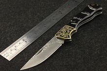 Navajas Sale Real 2016 High Quality Outdoor Wilderness Survival Folding Knife Self-defense Damascus Hardness Saber Wild Fruit