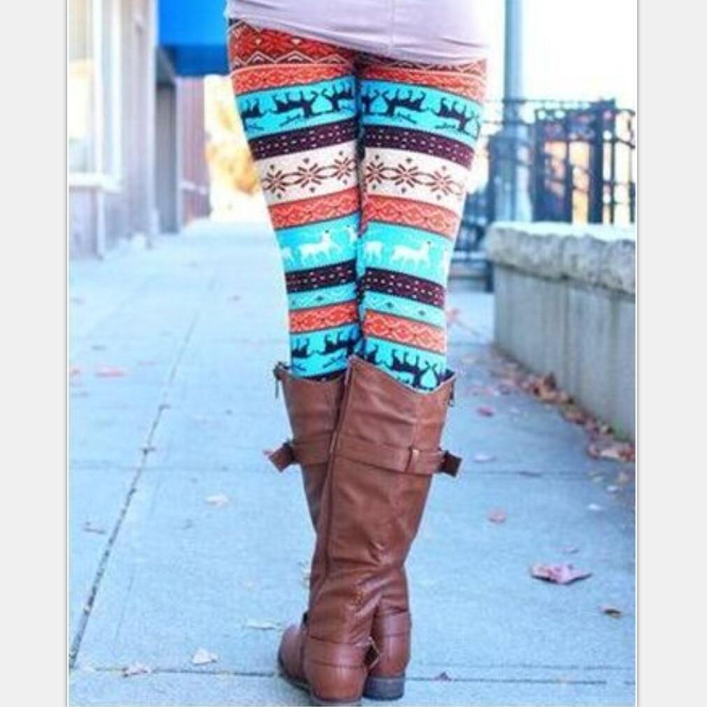 Print font b Leggings b font Fashion 2018 New Women s Elastic font b Leggings b
