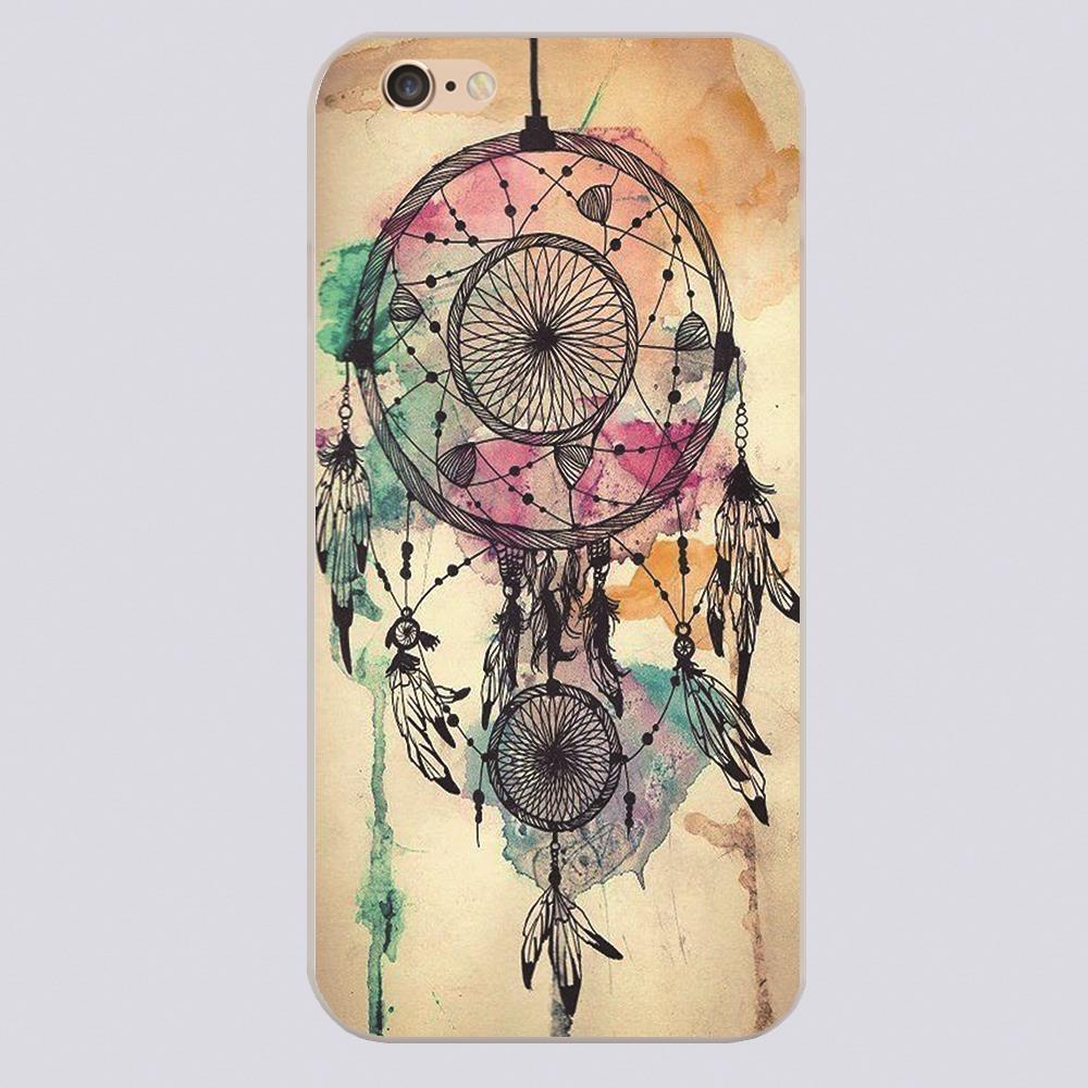 Draw + Paint a Dreamcatcher Design case cover cell phone cases for iphone 4 4s 5 5c 5s 6 6s 6plus hard shell