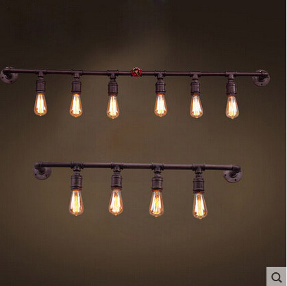 Loft Creative Retro Restraurant Bar American Country Industry Wall Sconces Iron Water Pipe Wall Lamp free shipping american retro nostalgia aisle wall bar lamp loft single head lamp of creative industry