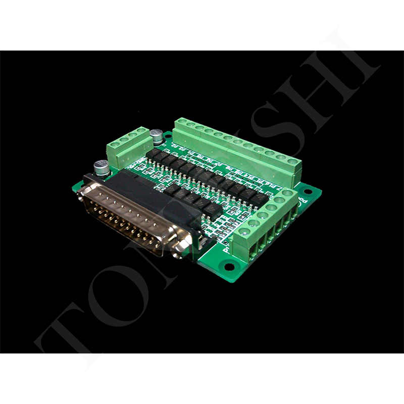 CNC parallel port interface board photoelectric isolation (support KCAM4, EMC2/linuxcnc)