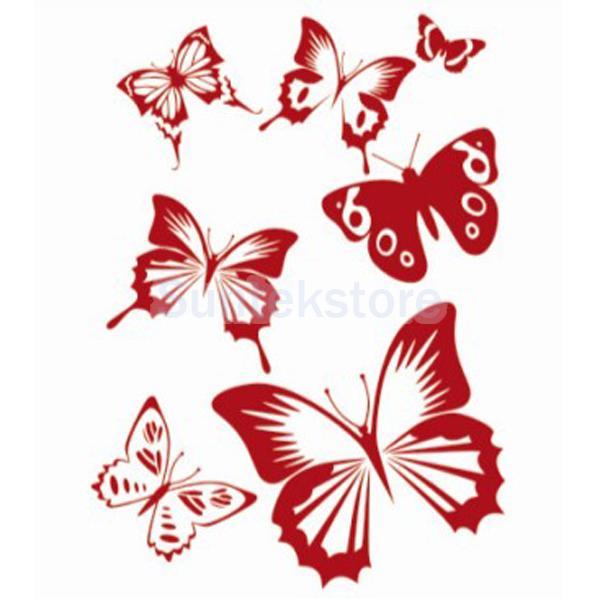 Pintura De La Pared De La Mariposa Patrón De Plantilla En Pegatinas