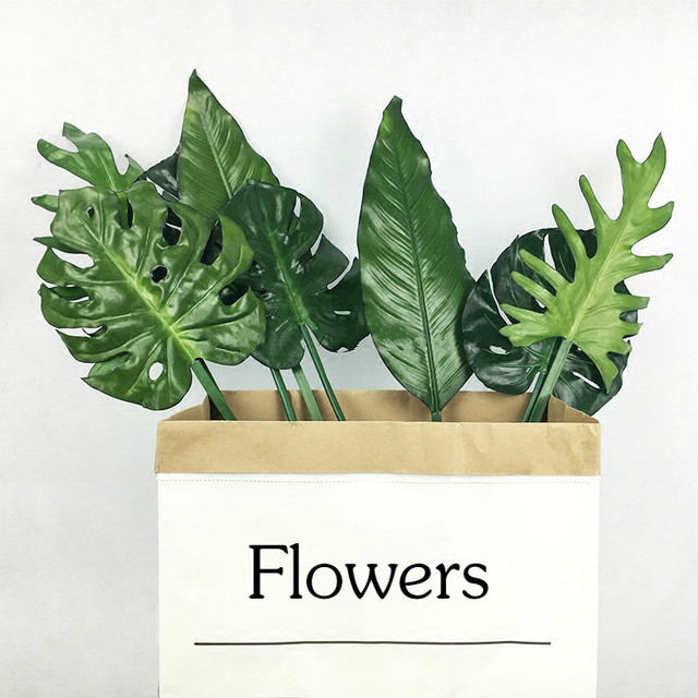 Large Artificial Palm Leaf Green Plants Monstera Leaves Home Wedding Diy Decoration Fake Flowers Fern