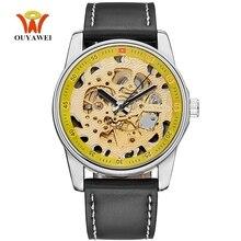 Relogio Masculino OYW marque homme montre automatique montre mécanique hommes montre étanche montres de mode montre squelette blanc