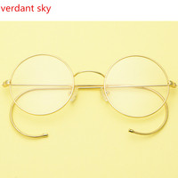 2017 The Latest Anti Retro Round Men And Women Glasses Frame Computer Glasses Frame Gold Antique