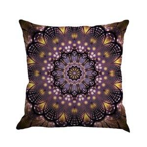 Image 2 - Разноцветная льняная наволочка с геометрическим рисунком 45 см * 45 см, удобная диванная квадратная наволочка для подушки, украшение для дома