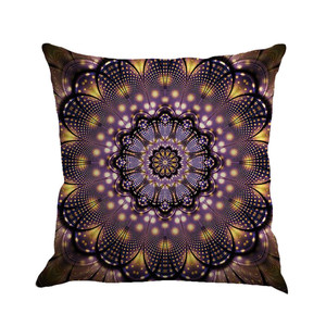 Image 2 - Geometry Painting Multicolor Linen Cushion Cover 45cm*45cm Comfortable Sofa Square Throw Pillow Cover Bed Home Decoration