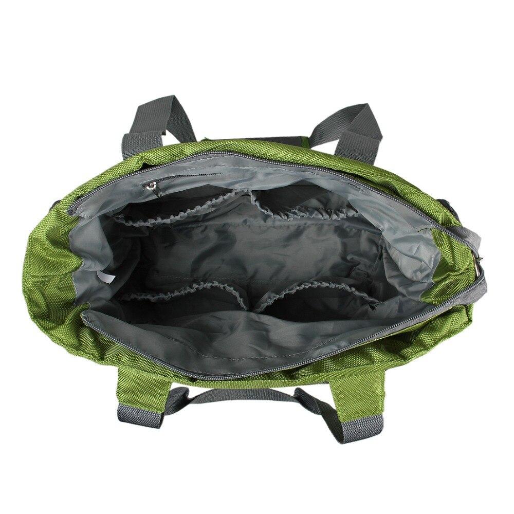 Bolsa de pañales para bebé mommore bolsa de pañales verde con almohadilla cambiante bolsas grandes para mamá bolsos de mano impermeable para cochecito de bebé - 4
