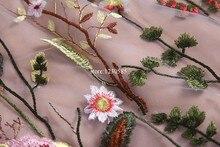 Runway Dresses 2017 Gorgeous Half Sleeves Sheer Mesh Embroidery Long Dresses Bohemian Brand Style Vestidos De Festa 61461