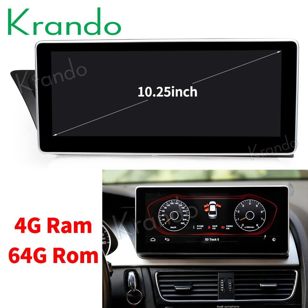 Krando Android 8 1 10 25 car radio dvd navigation for Audi A4L 2009 2016 multimedia