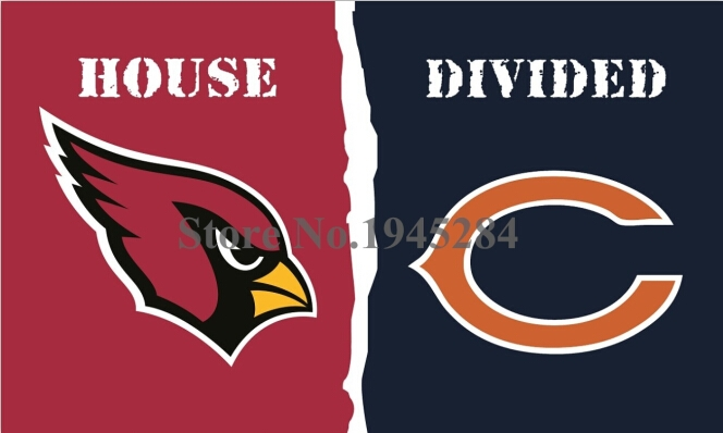 NFL Arizona Cardinals Chicago Bears House Divided Flag 3x5ft 150x90cm Polyester Flag Banner, free shipping